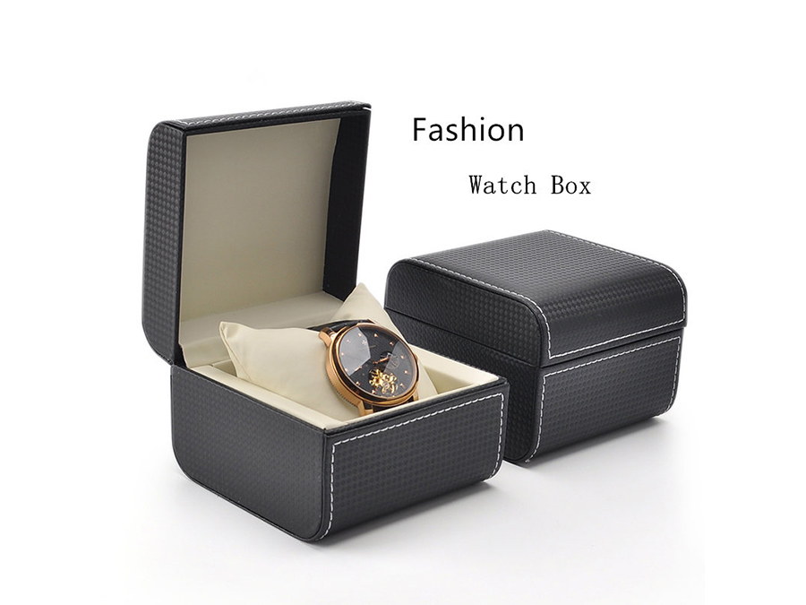 Round corner leather boxes for watches