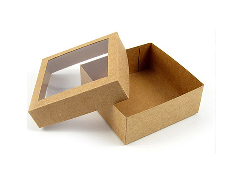 craft paper box with window