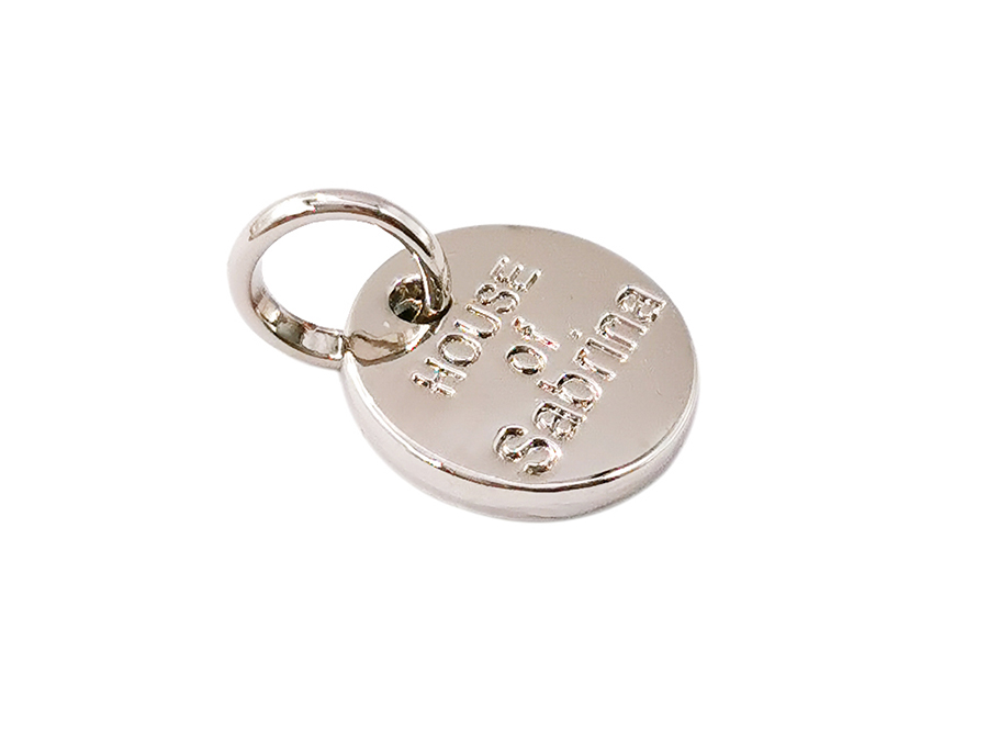 Metal jewelry tags