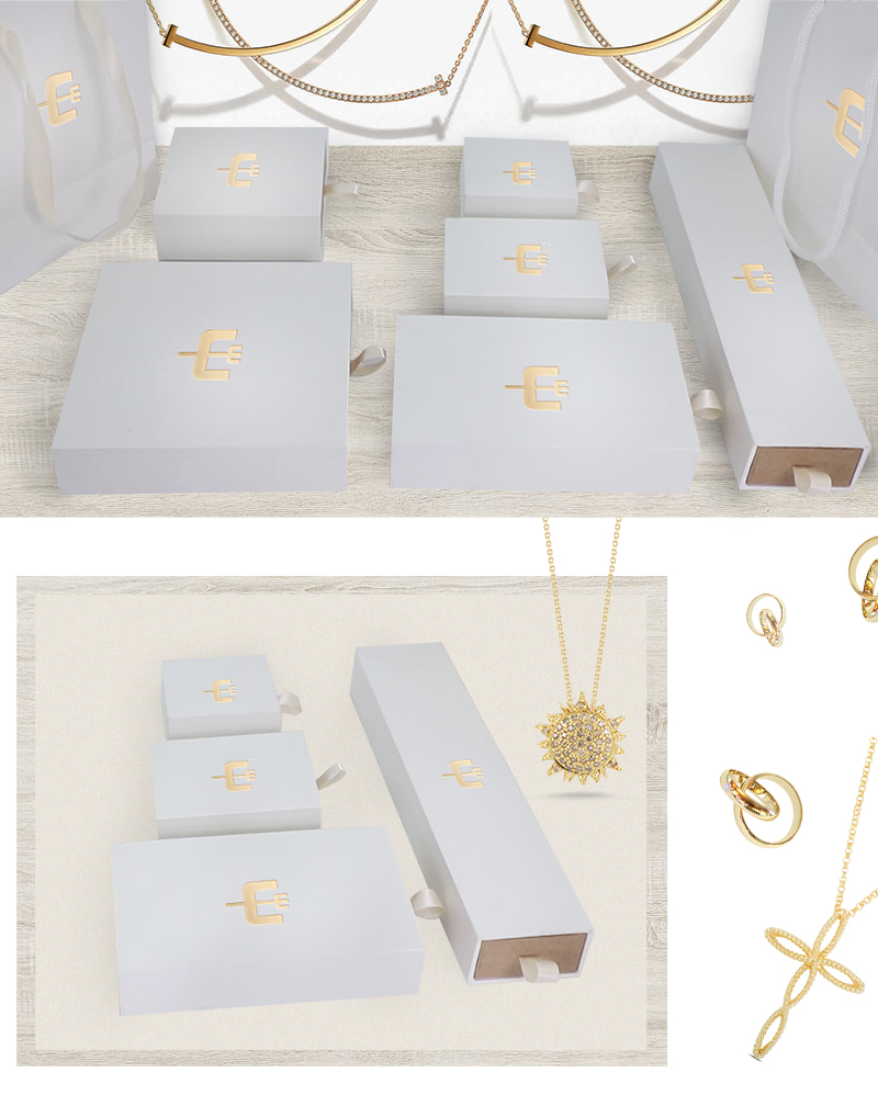 Gold stamping paper drawer boxes
