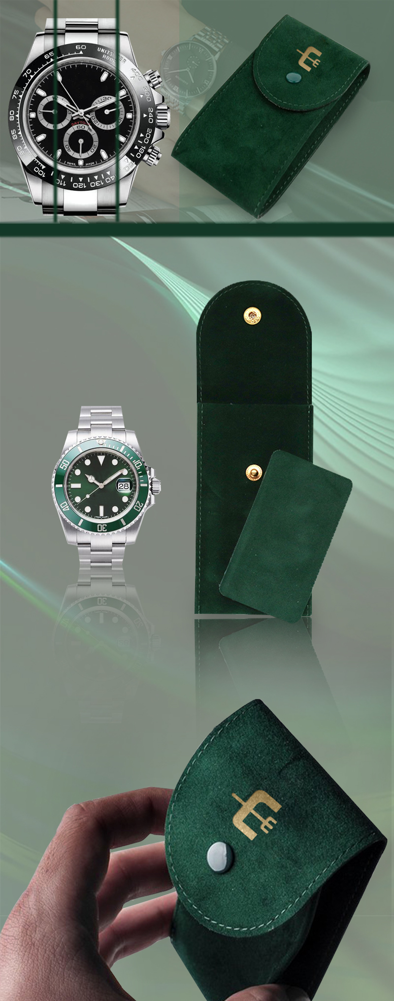 Customized Rolex pouches