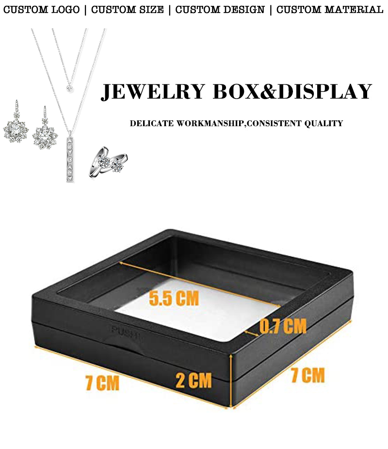 Clear jewelry box